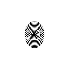 fingerprint simple icon