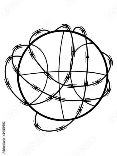 Sport Basketball Verein Ball Kicken Absperrung Stacheldraht