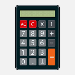 calculator icon, flat style, element of business
