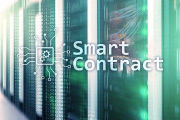 Smart contract, blockchain technology in modern business.