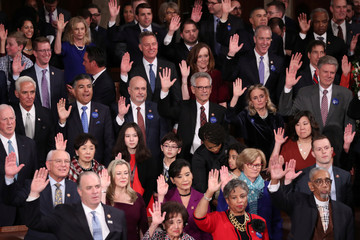 Members of the U.S. House of Representatives are sworn in during start of 116th Congress on Capitol Hill in Washington