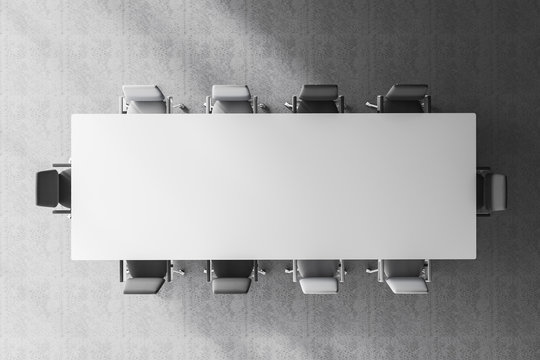 Top view of meeting room table