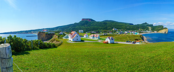 Panoramic view of the Perce village