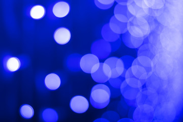 Beautiful blue circle bokeh