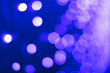 Round bokeh on blue background