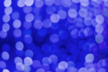 Blue dark blurred bokeh