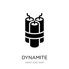 dynamite icon vector on white background, dynamite trendy filled