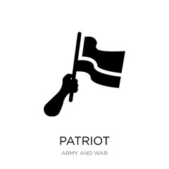 patriot icon vector on white background, patriot trendy filled i