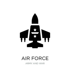 air force icon vector on white background, air force trendy fill
