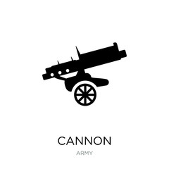 cannon icon vector on white background, cannon trendy filled ico
