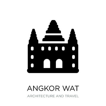 angkor wat icon vector on white background, angkor wat trendy fi
