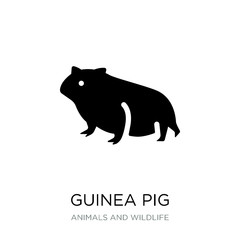 guinea pig icon vector on white background, guinea pig trendy fi