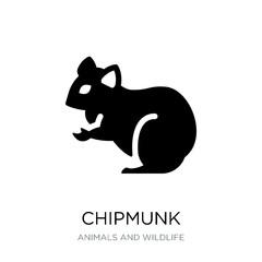 chipmunk icon vector on white background, chipmunk trendy filled