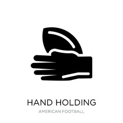 hand holding the ball icon vector on white background, hand hold