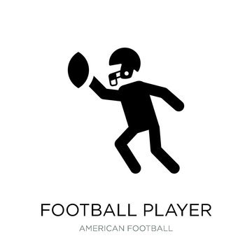 football player icon vector on white background, football player