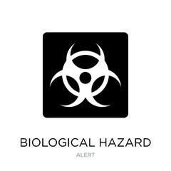 biological hazard icon vector on white background, biological ha