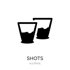 shots icon vector on white background, shots trendy filled icons