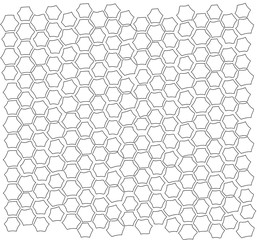 Vector isolated line pattern of a brick tile wall hexagon
