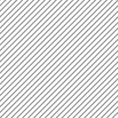Diagonal Stripes Seamless Pattern - Thin gray diagonal stripes on white background