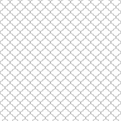Quatrefoil Seamless Pattern - Minimalist gray and white quatrefoil or trellis design