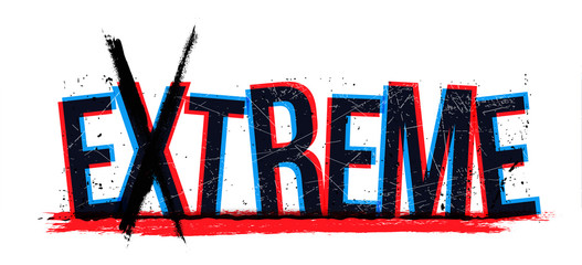 Extreme word, vector illustration. Wall mural