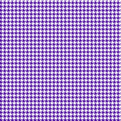 Houndstooth Seamless Pattern - Classic purple and white houndstooth texture