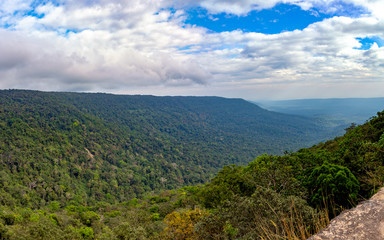 Scenic landscape with mountain forest, Khao Yai National Park, Thailand