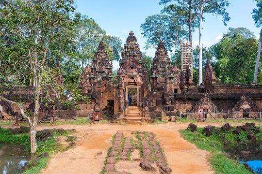 Banteay Srei beautiful  temple at Angkor