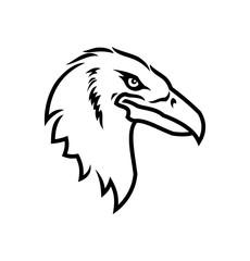 Eagle head icon. Eagle mascot outline silhouette