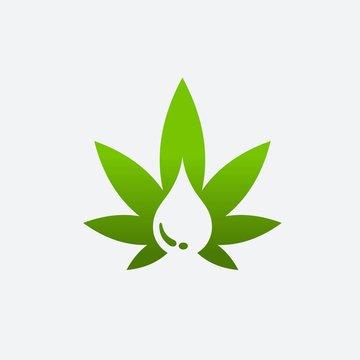 Cannabis Oil Vector