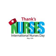 Thank's Nurses International Nurses Day Vector Template Design Illustration