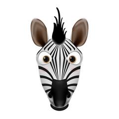 Zebra head cartoon vector