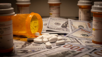 US Currency and Prescription Medication