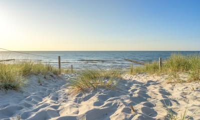 Zugang zum Strand an der Ostsee