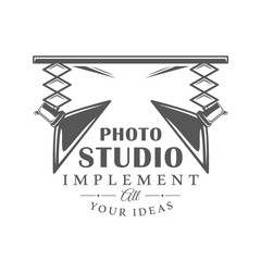 Photo studio label isolated on white background
