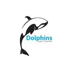 black white dolphins logo