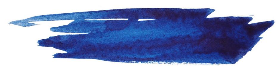 Fototapeta dark blue watercolor stain obraz