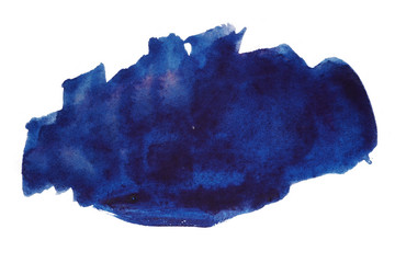 dark blue watercolor stain