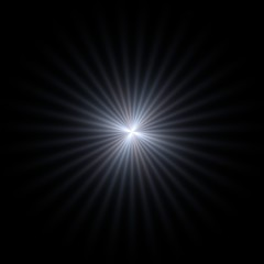 Isolated sparkling light glow on black background