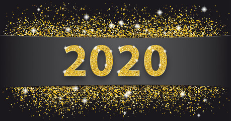Black Paper Banner Golden Sand 2020