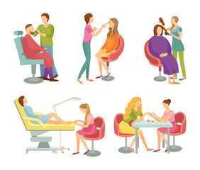 Spa Salon Treatment and Procedures Icons Vector