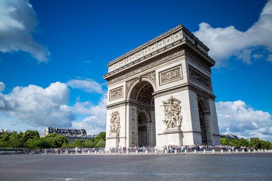 Arc de Triomphe on the Champs Elysees in Paris