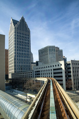 The Detroit People Mover is automated people mover system in Detroit , Michigan.