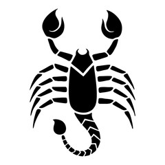 Zodiac, Astrology Illustration - Black and White - Scorpio