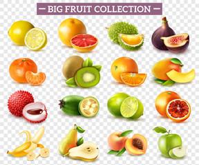 Lamas personalizadas con tu foto Realistic Fruit Set