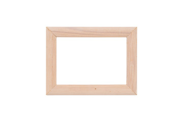 wood picture frame, isolated on white