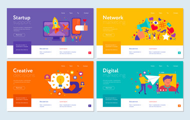 Digital Marketing Web Banners Set