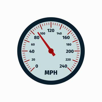 Realistic speedometer. Speed. Vector illustration. EPS 10.