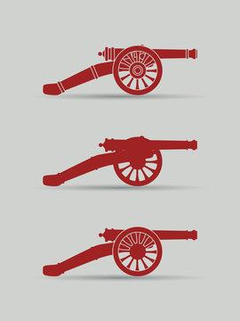 Vector retro cannon