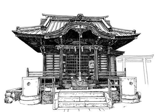 Japan temple J